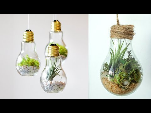 DIY CRAFTS FOR ROOM DECOR! TERRARIUM INSIDE A LIGH BULB DIY Room Decoration