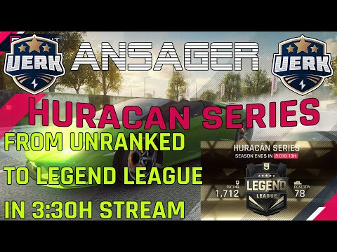 🔴 Live Asphalt 9 #10 – Huracan Series – From Unranked to Legend League in 3:30h Stream