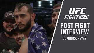 "UFC Boston: Dominick Reyes ""I'm ready to fight for the title so let's do it."""