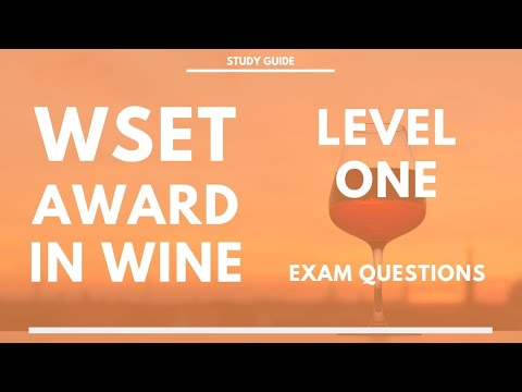 WSET Level 1 Exam Questions - What you are tested on at Level ...