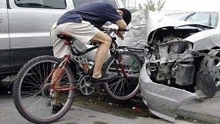 Подборка страшных ДТП с велосипедами