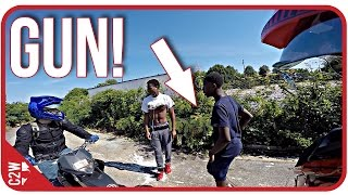 Chased down with a GUN!! They wanted our bikes!! [Chase and Yummi Adventure Series]