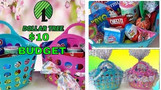 DIY EASTER BASKETS FROM DOLLAR TREE For Only $10