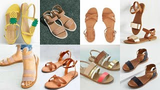 Very  Stylish And Simple Flat Sandals