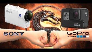 GoPro наконец-то, молодцы! Sony FDR-X3000 и GoPro Hero 7 Black сравнение. Видео примеры.