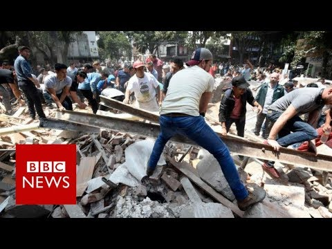 Mexico: Earthquake topples buildings killing nearly 250 - BBC News