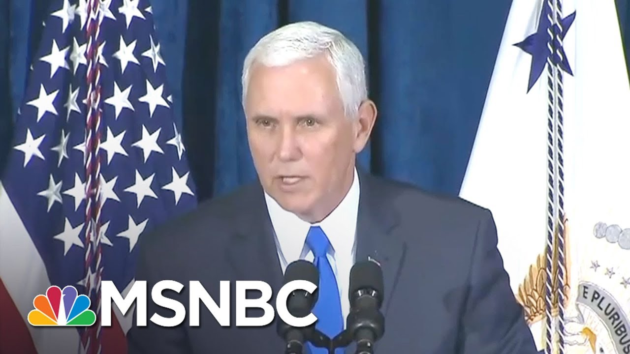 Woman Tells Vice President Pence To See More Than Donald Trump In Puerto Rico   Morning Joe   MSNBC thumbnail