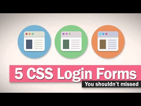 5 CSS Login Form Design You Shouldn't Miss