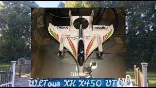 WLToys XK X450 VTOL FPV flyaway (no video & too much wind)