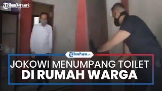 Viral Video Momen Jokowi Menumpang Buang Air di Toilet Rumah Warga dan Dijaga Ketat Paspampres