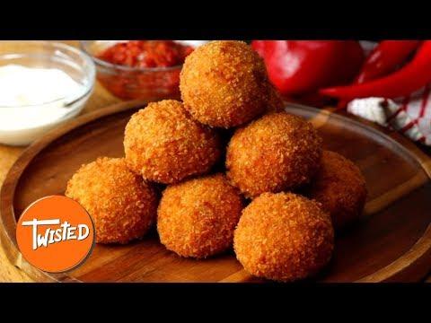 How To Make Chicken Fajita Arancini | Chicken Fajita Recipes | Appetizer Ideas | Twisted