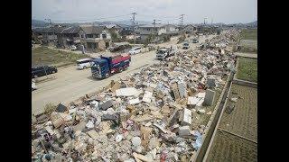 西日本豪雨から1週間=岡山県倉敷市真備町をドローン撮影