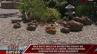 Mga bato mula sa baybaying dagat ng bayan ng Luna, pangunahing kabuhayan ng ilang residente