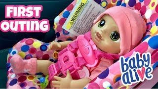 Baby Alive Real as can first outing to Walmart including car ride feeding