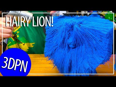 3D Printing the Worlds Largest Hairy Lion on the gMax 3D Printer ...