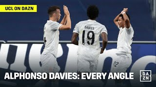 Every Angle of Alphonso Davies' WORLD CLASS Run and Assist Against Barcelona