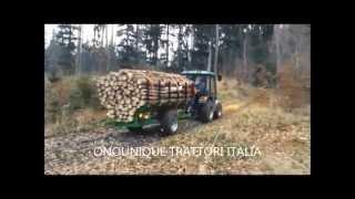 SEMIRIMORCHIO FORESTALE PER IL TRASPORTO DI LEGNAME LVN-3500, ONOUNIQUE TRATTORI ITALIA