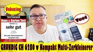 GRUNDIG CH 6280 w Kompakt Multi-Zerkleinerer - Unboxing - Test | Willi-0815