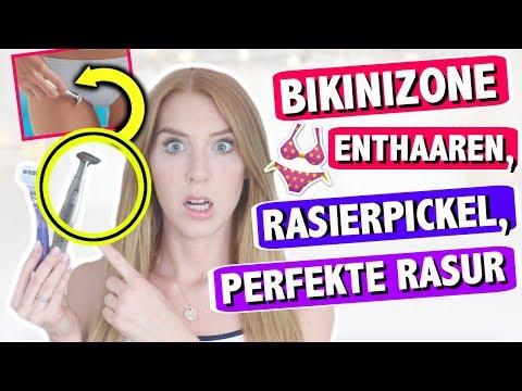 PERFEKTE HAARENTFERNUNG: Bikinizone rasieren, Rasierpickel, Tipps + Tricks für Anfänger