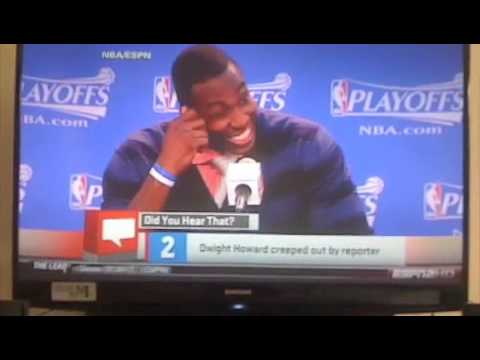 Dwight Howard Gets hit on by gay reporter during post game interview !