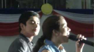 "Angeline Quinto sing "" I just fall in love again"" w/ Coco Martin"