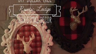 DIY EASY Dollar Tree Rustic Lodge Christmas Decor