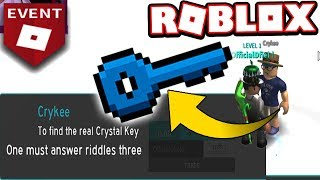 The Crystal Key Is In This Game Roblox Ready Player One Event
