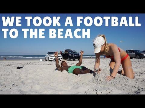 WE TOOK A FOOTBALL TO THE BEACH!