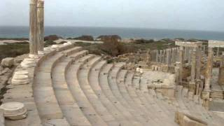 preview picture of video 'The Amphitheatre at Leptis Magna, Libya'