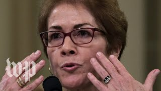 Marie Yovanovitch's public impeachment hearing, in 5 minutes