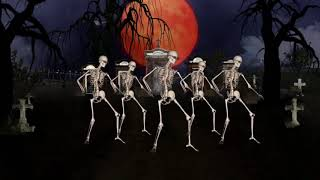 Skeleton funny danc on Busy busy song