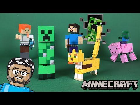 Vidéo LEGO Minecraft 21156 : Bigfigurine Creeper et ocelot