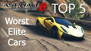 Asphalt 8: Top 5 Worst Elite Cars