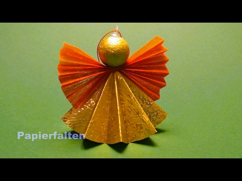 Weihnachtsengel basteln, ein Engel aus Papier falten