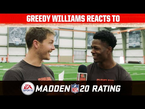 Greedy Williams Reacts to his Madden 20 Rating | Cleveland Browns