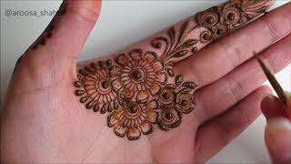 Latest Unique Stylish Arabic Henna Design
