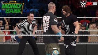 WWE 2K16 Money in the Bank 2016: AJ Styles vs John Cena!
