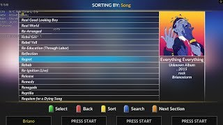 Regret - Everything Everything for Clone Hero (Chart Preview, WIP)