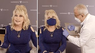 video: Dolly Parton sings vaccine version of Jolene as she gets Moderna jab