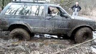 preview picture of video 'Off road opolskie - Cherokee xj Blazer S-10 off road 4x4 błoto - opolskie - test wyciągarek'