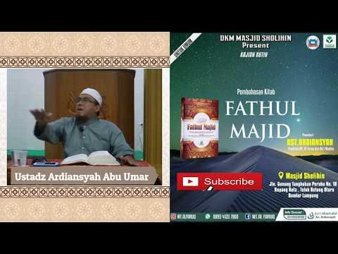 Pemberian Nama (Fathul Majid) Ustadz Ardiansyah
