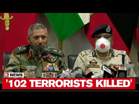 '102 Terrorists Killed in 2020': Indian Army & Kashmir Police's Joint Brief