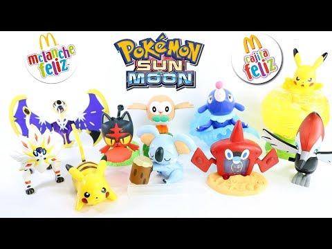 Pokémon Sun and Moon Sol e Lua - McDonald's McLanche Feliz DEZ/2017 [review] brinquedo toys coleção