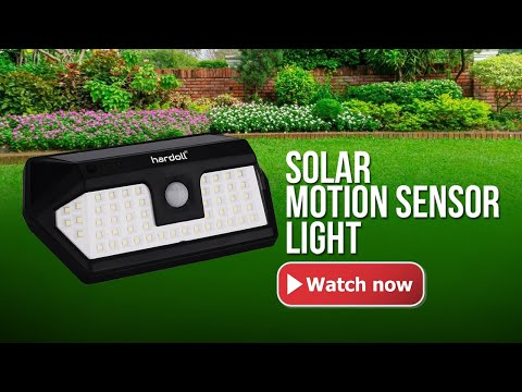 Refubished 66 LED Motion Sensor Solar Lights