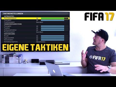 FIFA 17 Tutorial | Eigene Taktiken - Beste Einstellungen für Individuelle Taktik Strategie (deutsch)
