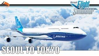 [Microsoft Flight Simulator 2020] Seoul to Tokyo - Boeing 747-8i|Drawyah