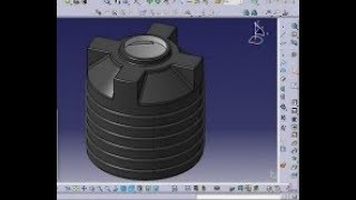 CATIA V5/V6 tutorial | Plastic Water Tank | Water Storage Tank Design | CATIA V5 Part Design Tutoria