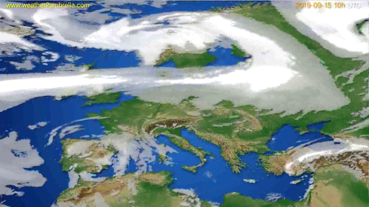 Cloud forecast Europe // modelrun: 00h UTC 2019-09-13
