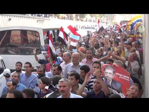 سائق القطار والركاب عندما شاهد مسيرة مؤيدة للرئيس في نفق الجيزة