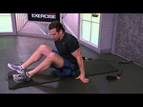 Lying Tricep Extension with Resistance Band
